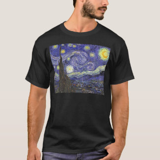 Van Gogh Starry Night, Vintage Fine Art Landscape T-Shirt