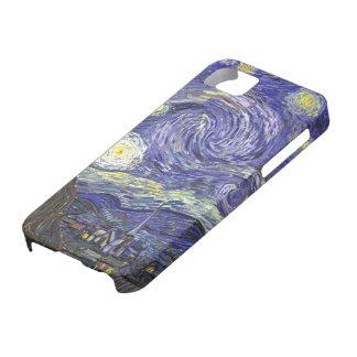 Van Gogh Starry Night, Vintage Landscape Art iPhone 5 Cover