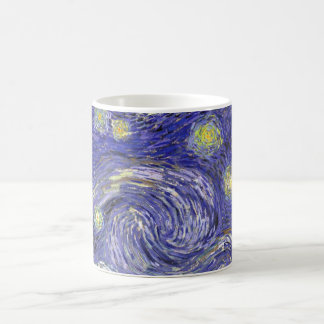 Van Gogh Starry Night, Vintage Landscape Art Classic White Coffee Mug