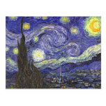 Van Gogh Starry Night, Vintage Post Impressionism