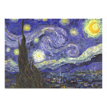 Van Gogh Starry Night, Vintage Post Impressionism Personalized Invitation