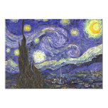 Van Gogh Starry Night, Vintage Post Impressionism Personalized Invitation