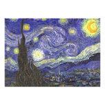 Van Gogh Starry Night Vintage Wedding Invitation