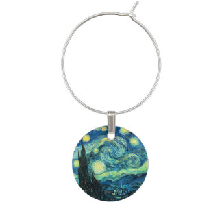 van Gogh Starry Night Wine Glass Charms