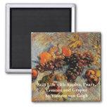 Van Gogh; Still Life Apples, Pears, Lemons, Grapes Fridge Magnet