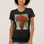 Van Gogh Still Life Flower Red Poppies and Daisies T Shirt