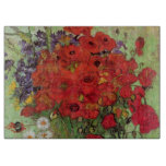 Van Gogh; Still Life: Red Poppies and Daisies Cutting Board
