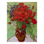 Van Gogh; Still Life: Red Poppies and Daisies Posters