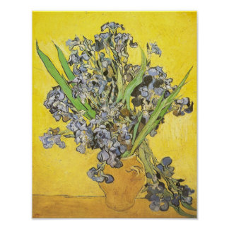 Van Gogh Still Life Vase, Irises (F678) Fine Art Poster