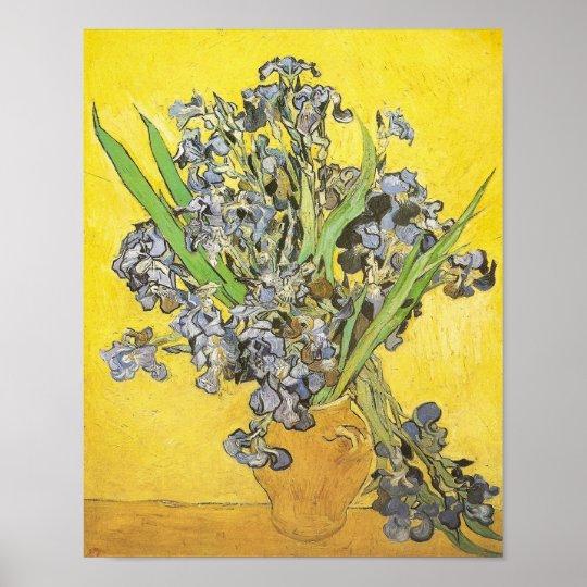 Van Gogh Still Life Vase, Irises (F678) Fine
