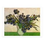 Van Gogh Still Life Vase, Violet Irises (F680)