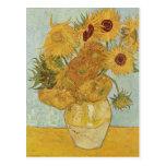Van Gogh - Still Life: Vase with 12 Sunflowers Post Card