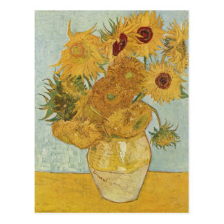 Van Gogh - Still Life: Vase with 12 Sunflowers Postcard