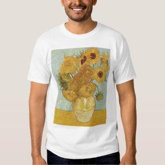 Van Gogh - Still Life: Vase with 12 Sunflowers T Shirt