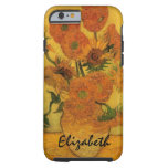 Van Gogh; Still Life: Vase with 15 Sunflowers Tough iPhone 6 Case