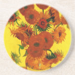 Van Gogh Still Life: Vase with 15 Sunflowers Coasters