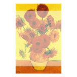 Van Gogh Still Life: Vase with 15 Sunflowers Customized Stationery