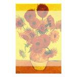 Van Gogh Still Life: Vase with 15 Sunflowers Customized Stationery
