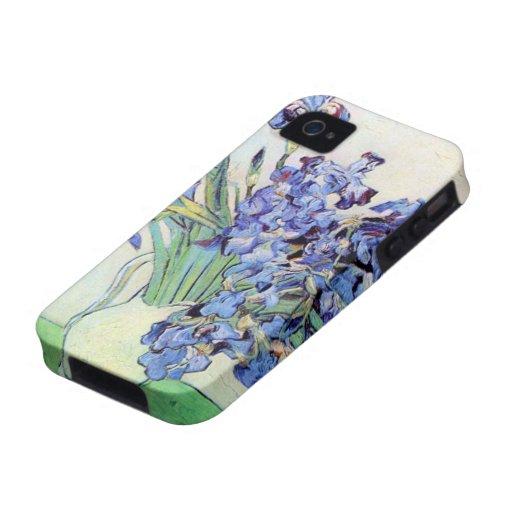 Van Gogh Still Life: Vase with Irises, Vintage Art Case-Mate iPhone 4 Case