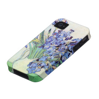 Van Gogh Still Life Vase with Irises, Vintage Art iPhone 4 Cases