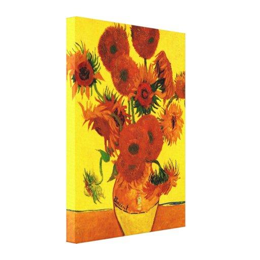 Van Gogh - Still Life Vase with Rose-Mallows Gallery Wrap Canvas