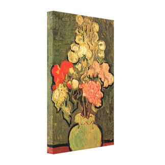 Van Gogh - Still Life Vase with Rose-Mallows Stretched Canvas Print