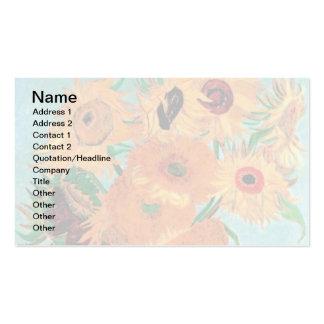 Van Gogh - Still Life Vase With Twelve Sunflowers Business Card Templates