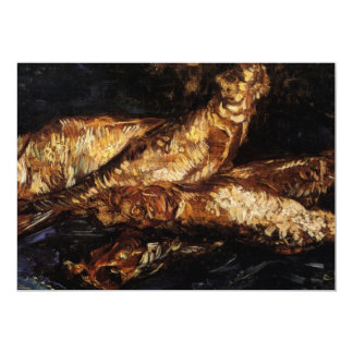 Van Gogh Still Life w Bloaters, Vintage Fine Art Announcements