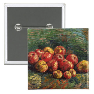 Van Gogh Still Life with Apples (F254) Fine Art 15 Cm Square Badge
