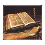 Van Gogh - Still Life With Bible Stretched Canvas Prints