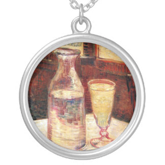 Van Gogh - Still Life with Glass of Absinthe Round Pendant Necklace