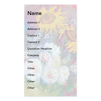 Van Gogh - Still Life With Roses And Sunflowers Business Cards