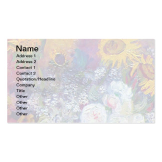 Van Gogh - Still Life With Roses And Sunflowers Business Card