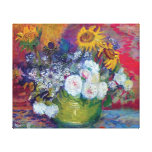 Van Gogh - Still Life With Roses And Sunflowers Canvas Prints