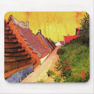 Van Gogh Street in Saintes Marie, Vintage Fine Art Mouse Pad