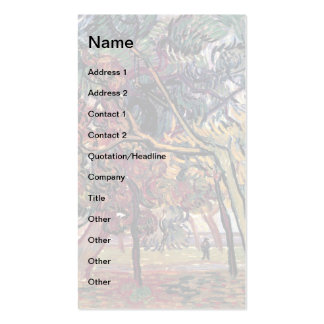 Van Gogh - Study Of Pine Trees Business Card Templates