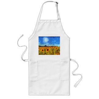 Van Gogh Summer Sunflowers Long Apron