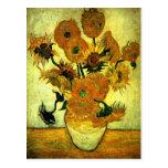 Van Gogh - Sunflowers, 14 Postcard