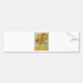 Van Gogh Sunflowers Bumper Sticker