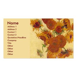 Van Gogh Sunflowers (F454) Vintage Fine Art Pack Of Standard Business Cards