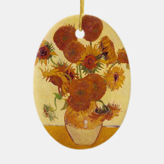 Van Gogh Sunflowers (F454) Vintage Fine Art Christmas Ornament
