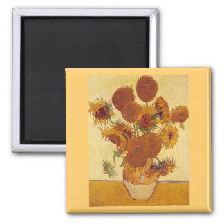 Van Gogh Sunflowers F454 Vintage Fine Art Fridge Magnets