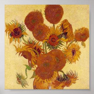 Van Gogh Sunflowers (F454) Vintage Fine Art Poster
