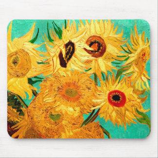 Van Gogh Sunflowers (F455) Vintage Fine Art Mouse Pad