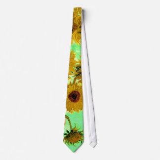 Van Gogh Sunflowers (F456) Vintage Fine Art Tie