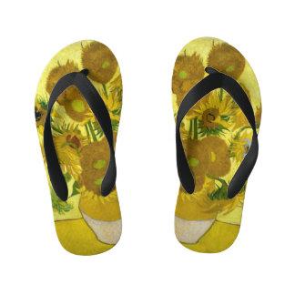 Van Gogh Sunflowers Flip Flops