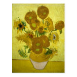 Van Gogh Sunflowers Post Impressionism Vintage Post Cards