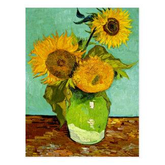 Van Gogh - Sunflowers, Three Postcard