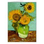 Van Gogh - Sunflowers (three), Van Gogh painting Greeting Card