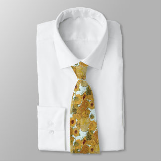 Van Gogh Sunflowers Vase Art Tie